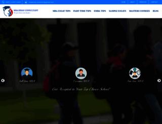 mbaessayconsultant.com screenshot