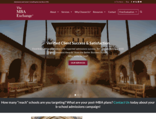 mbaexchange.com screenshot