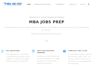mbajobsprep.com screenshot