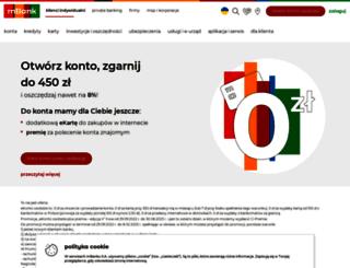 mbank.eu screenshot