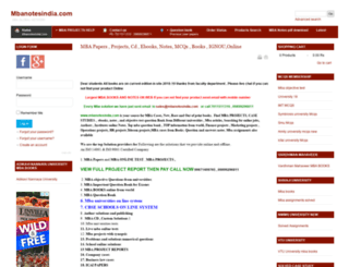 mbanotesindia.com screenshot