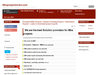 mbaprojectsindia.com screenshot