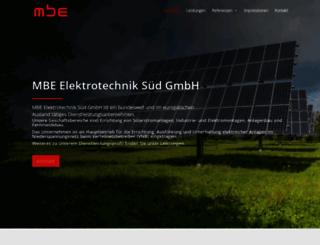 mbe-gmbh.eu screenshot