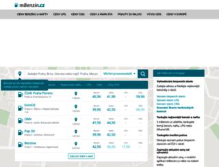 mbenzin.cz screenshot