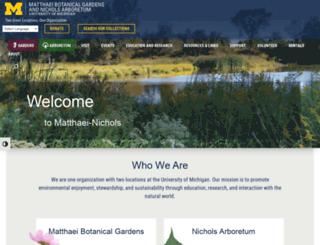 mbgna.umich.edu screenshot