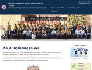 mbm.ac.in screenshot