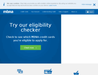 mbna.ie screenshot