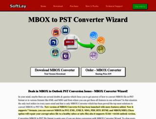 mboxtopst.com screenshot