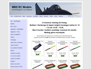 mbs-rcmodels.se screenshot