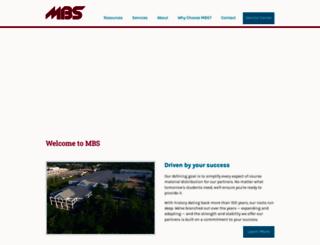 mbsbooks.com screenshot