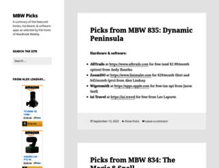 mbwpicks.com screenshot