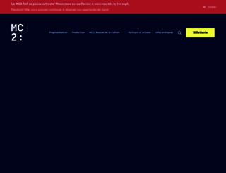 mc2grenoble.fr screenshot