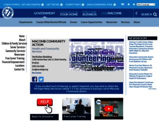 mca.macombgov.org screenshot