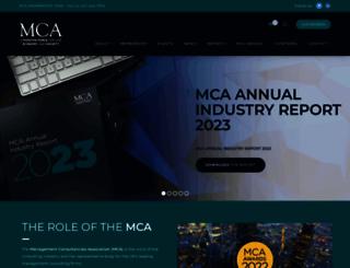 mca.org.uk screenshot