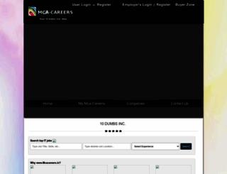 mcacareers.in screenshot