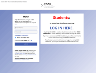 mcad.mywconline.com screenshot