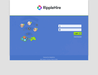 mcafee.ripplehire.com screenshot
