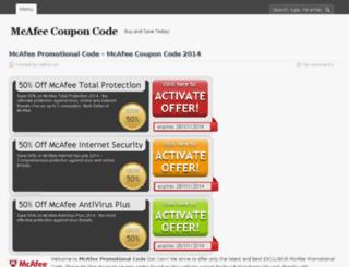 mcafeecouponcode.com screenshot
