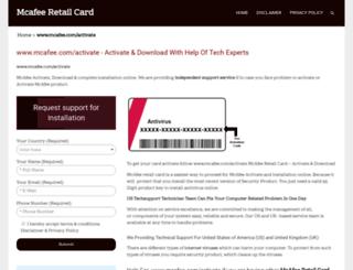 mcafeeretailcard.net screenshot