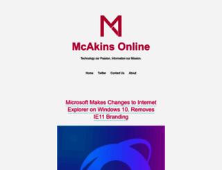 mcakins.com screenshot