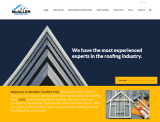 mcallenroofers.com screenshot