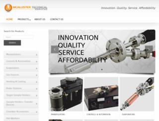 mcallister.com screenshot