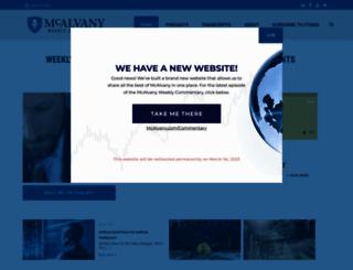 mcalvanyweeklycommentary.com screenshot