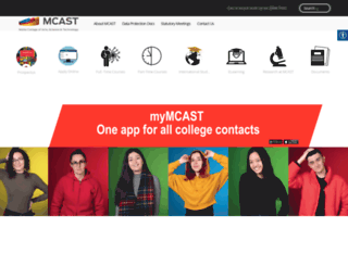 mcast.edu.mt screenshot