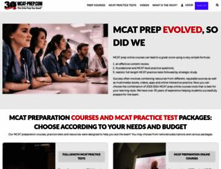 mcat-prep.com screenshot