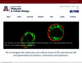 mcb.arizona.edu screenshot