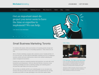 mccabemarketing.ca screenshot