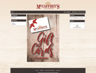 mccaffreys.mypinnaclecart.com screenshot