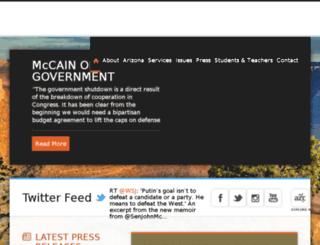 mccain.senate.gov screenshot