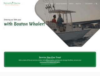 mccarthysmarine.com screenshot