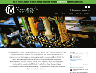 mccloskeystavern.com screenshot