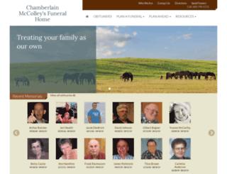 mccolleyschapels.com screenshot