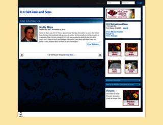 mccombandsons.tributes.com screenshot