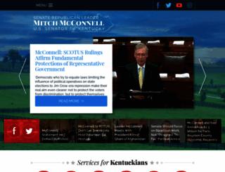 mcconnell.senate.gov screenshot