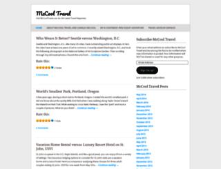 mccooltravel.wordpress.com screenshot