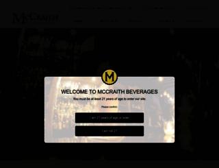 mccraithbeverages.com screenshot