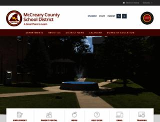 mccreary.k12.ky.us screenshot
