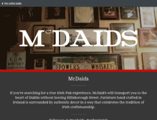 mcdaids.pub screenshot