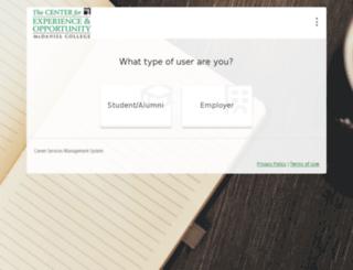 mcdaniel-csm.symplicity.com screenshot