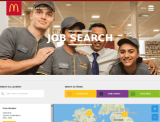 mcdcareers.co.uk screenshot