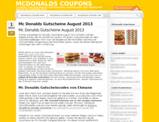mcdonalds-coupon.bplaced.net screenshot