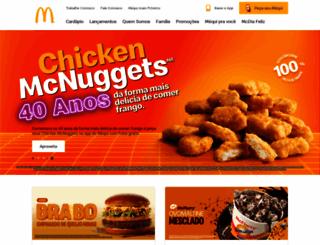 mcdonalds.com.br screenshot