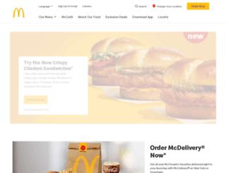 mcdonalds.com screenshot
