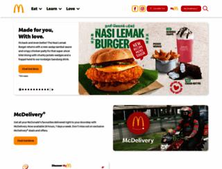 mcdonalds.com.sg screenshot