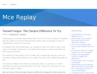 mcereplay.com screenshot