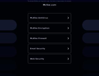mcfee.com screenshot